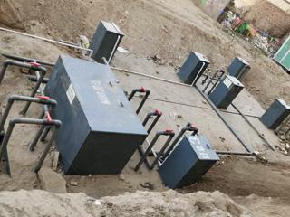 农村河沟黑臭水处理设备使用案例